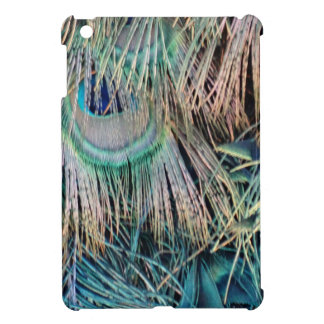 Peacock Feathers Tan Green And blue iPad Mini Case