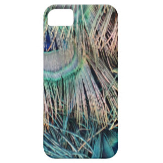 Peacock Feathers Tan Green And blue iPhone 5 Case