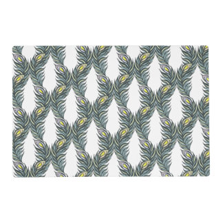 Peacock Feathers V Laminated Placemat