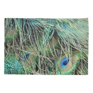 Peacock Feathers With New Growth Pillowcase