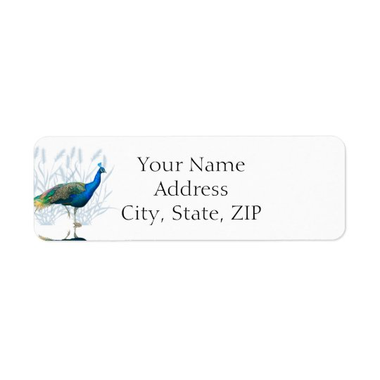 Peacock Garden Anniversary Return Address Return Address Label