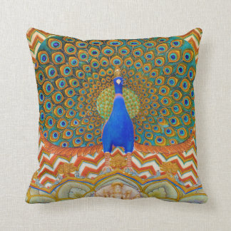 Peacock Gate Throw Pillow