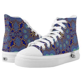 Peacock Geometric High Top Sneakers