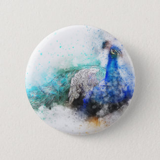 Peacock Gifts 2 Inch Round Button