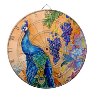 Peacock Grape Artwork Dartboard