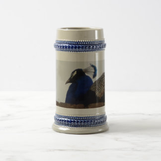 Peacock Gray /Blue 22 oz Stein