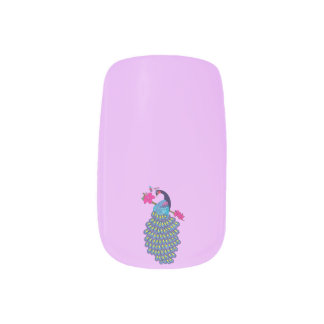 Peacock & Hibiscus Design; Minx Nail Art Decals