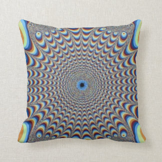 Peacock Illusion Abstract Pillow