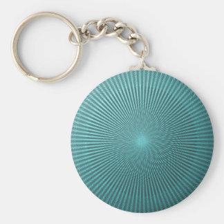Peacock Illusion Basic Round Button Keychain