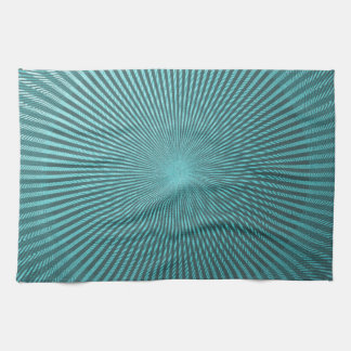 Peacock Illusion Kitchen Towel