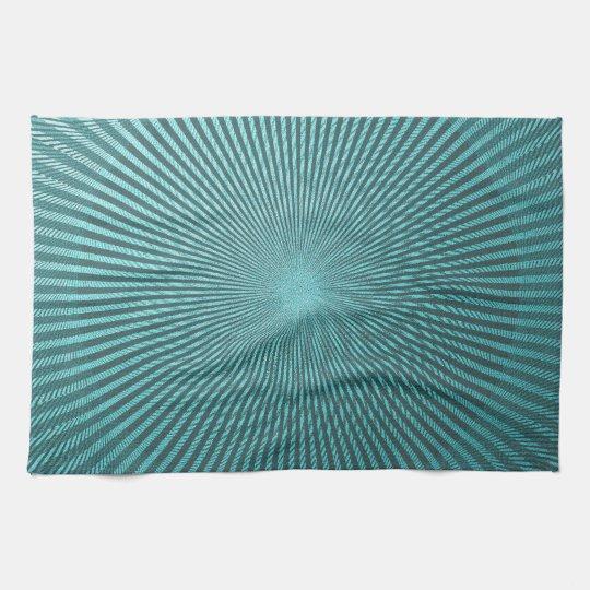 Peacock Illusion Kitchen Towel