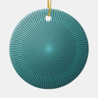 Peacock Illusion Round Ceramic Ornament