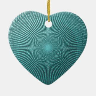 Peacock Illusion Ceramic Heart Ornament