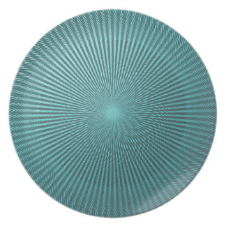 Peacock Illusion Party Plate