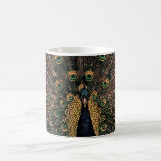 Peacock in Slightly Subdued Colors Coffee Mug