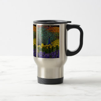 Peacock in Spring Garden #1 Travel Mug