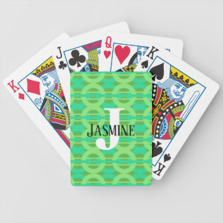 Peacock Inspired Chain Link Pattern Bicycle Playing Cards