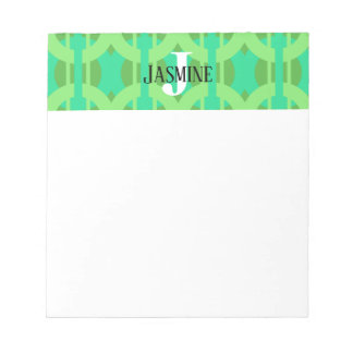 Peacock Inspired Chain Link Pattern Notepad