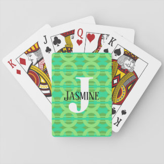 Peacock Inspired Chain Link Pattern Playing Cards