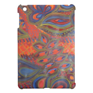 peacock inspired i-pad mini case cover for the iPad mini