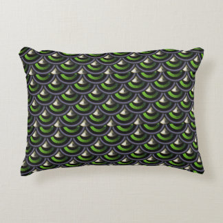 Peacock Inspired Mermaid Dragon Scales Decorative Pillow