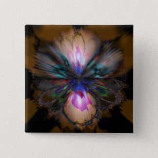 Peacock Iris 2 Inch Square Button
