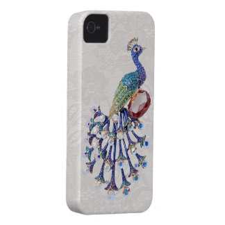 Peacock Jewel Paisley Lace iPhone 4 Case