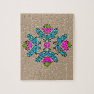 Peacock Lotus Rangoli Puzzle