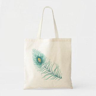 Peacock Love Budget Tote Bag