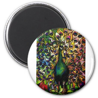 Peacock Majestic 2 Inch Round Magnet