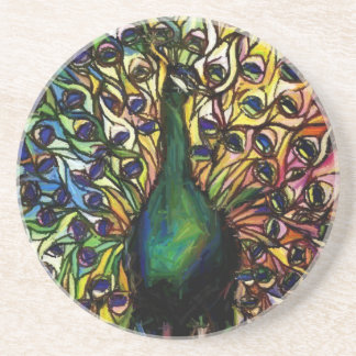 Peacock Majestic Drink Coaster