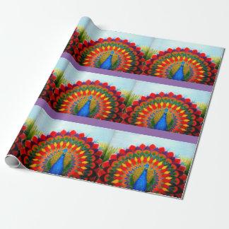 Peacock Mandala Wrapping Paper