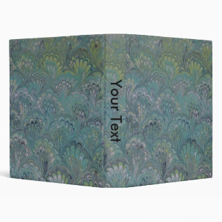 Peacock Marbled 3 Ring Binder