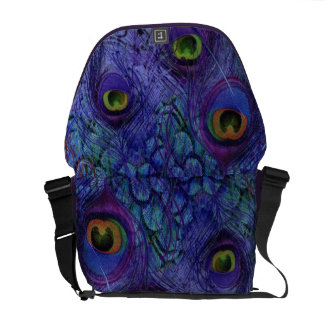 Peacock Messenger Bag Purple Blue
