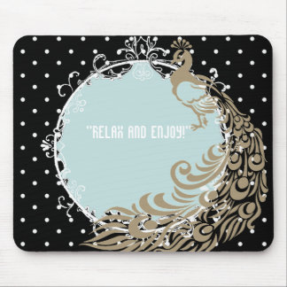 PEACOCK-MIRROR-SELF-EXPRESSION-TEMPLATE MOUSE PAD
