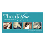 PEACOCK MODERN THANKS | WEDDING THANK YOU CARD PERSONALIZED PHOTO CARD