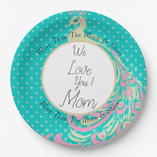Peacock-Moon-Star-Celebration-Monogram-Template-lG Paper Plate