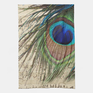 Peacock Music Kitchen Towel