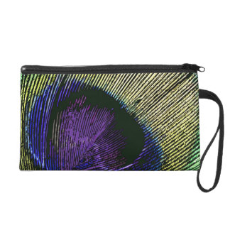 Peacock n purple wedding favors wristlet clutch