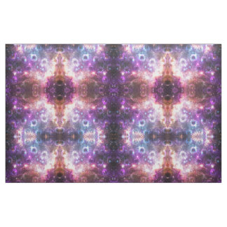 peacock nebula outer space galaxy print fabric