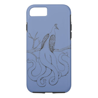 Peacock on a branch iPhone 8/7 case