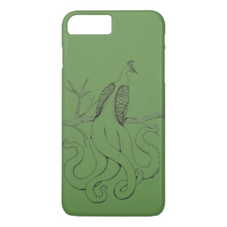 Peacock on a branch iPhone 8 plus/7 plus case