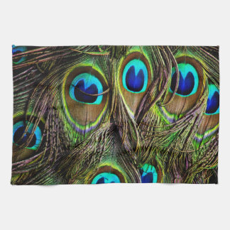 peacock pattern kitchen towels