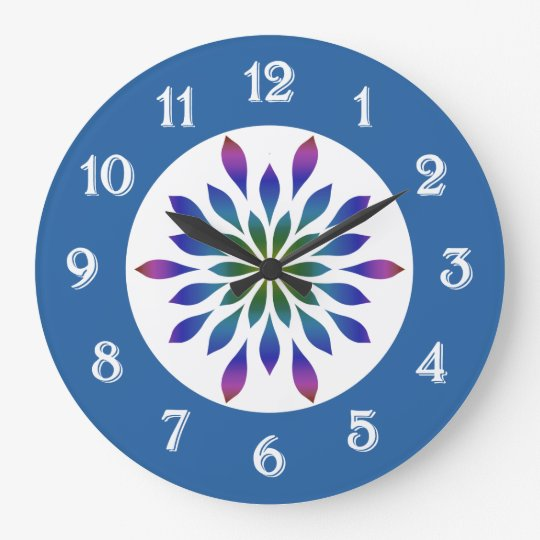 Peacock Petals Floral Clocks