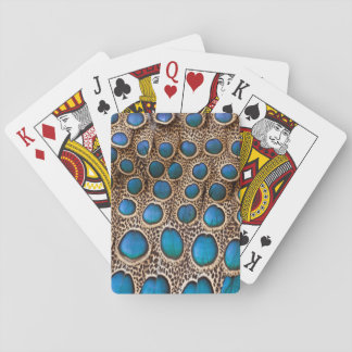 Peacock-pheasant feather design playing cards