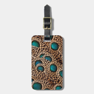 Peacock Pheasant Horizontal Luggage Tag