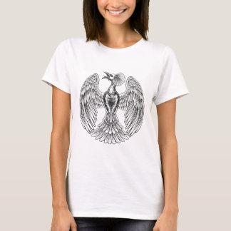 Peacock Phoenix bird design T-Shirt