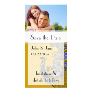"""Peacock/photo  """"Save the Date"""" Photo Card"""