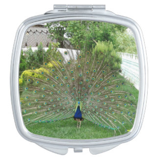 Peacock Photo Square Compact Mirror