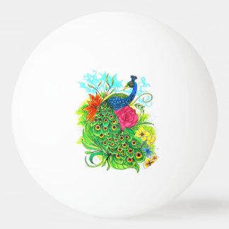 Peacock Ping Pong Ball